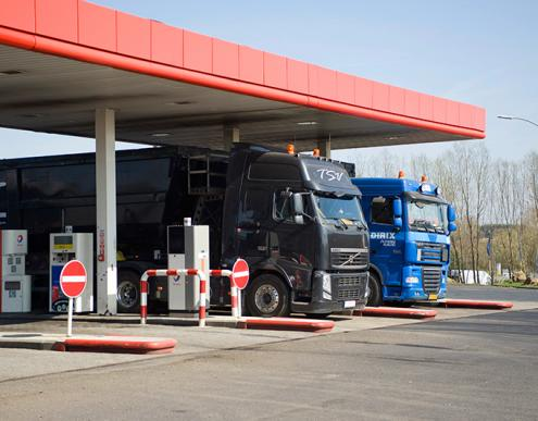 Total filling station for lorries